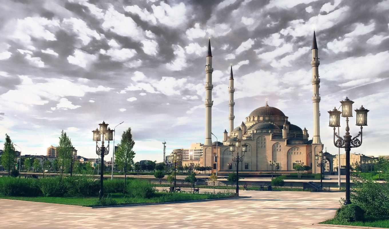 чечня, mosque, грозный, взгляд,