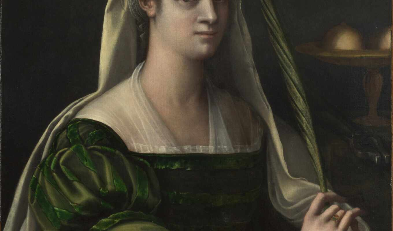 portrait, lady, пьомбо, себастьяно, del, piombo, марта,