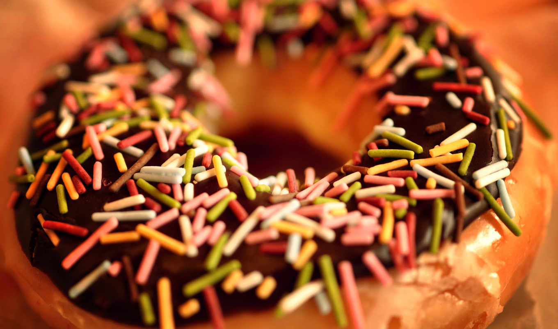 пончик, еда, chocolate, donut, макро,