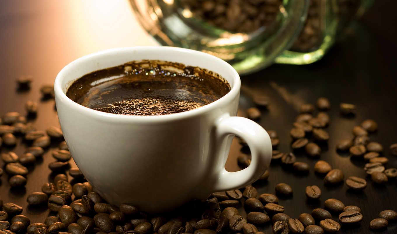 coffee, cup, grains, кофейные,