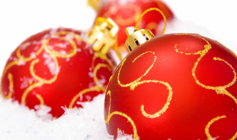 новогодние, дек, шарики,