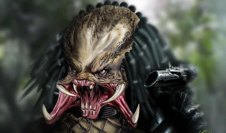 хищник, оружие, зубы, ярость, ужас,