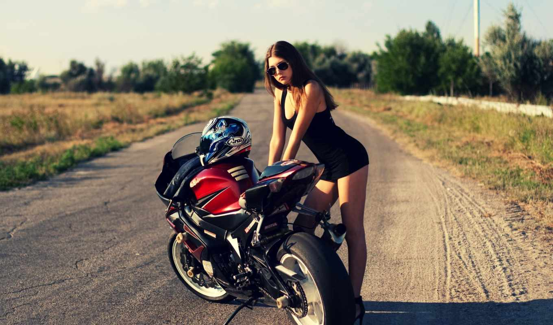 devushka, мотоцикл, дорога, suzuki,