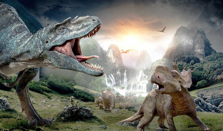 динозавры, динозавров,
