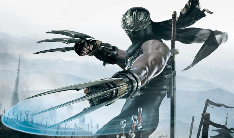 ninja, gaiden, game, ножи, games, video,