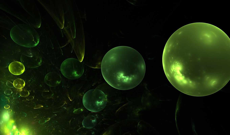 шары, абстракция, широкоформатные,