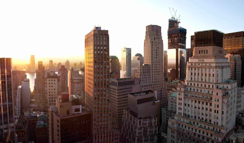 new, york, нью, закат, nyc, manhattan,