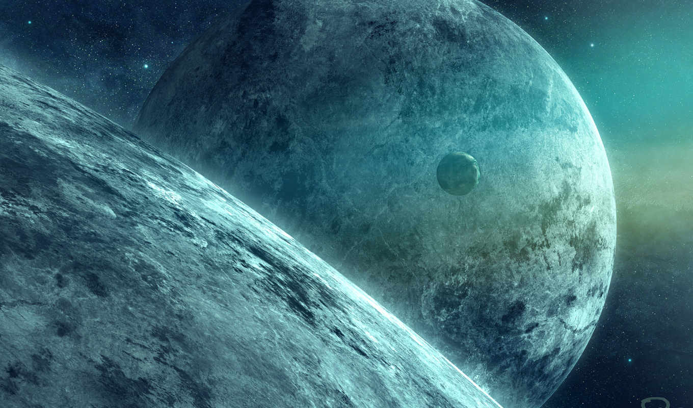 космос, qauz, art, звезды, картинка, planet, спутник, планеты,