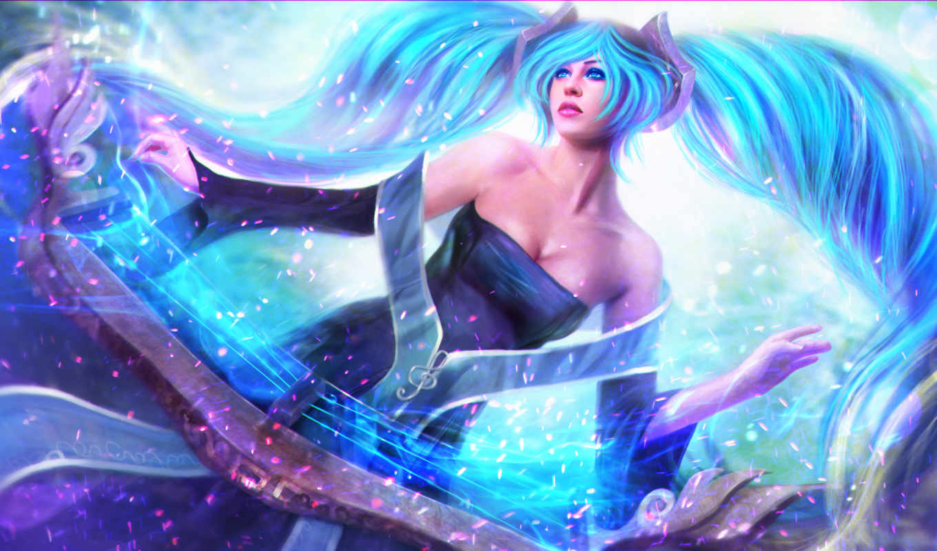 league, legends, игры, фэнтези, sona,