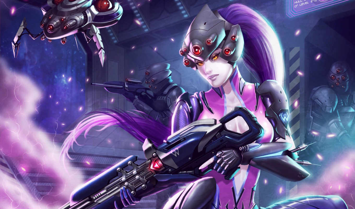 overwatch, widowmaker, blizzard, фантастика, teamshooter, за, art,