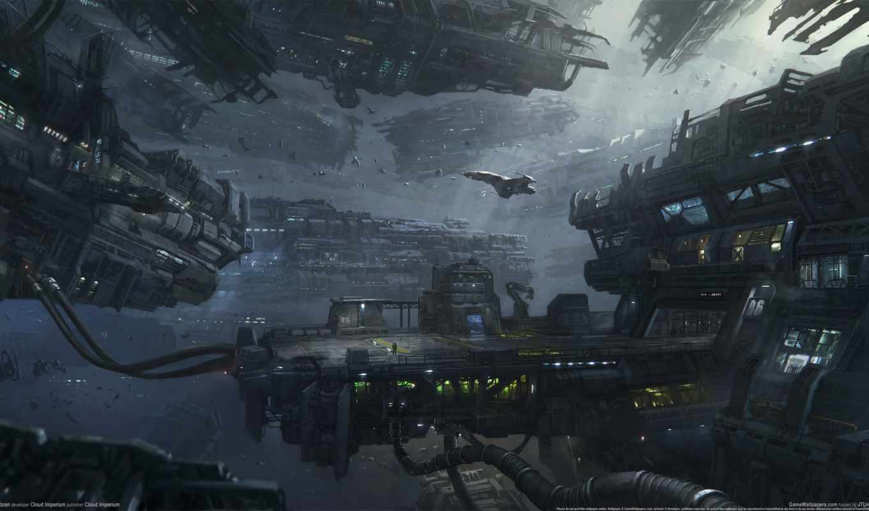 картинка, anime, город, станция, города, космос, star, космическая, cosmic, citizen,