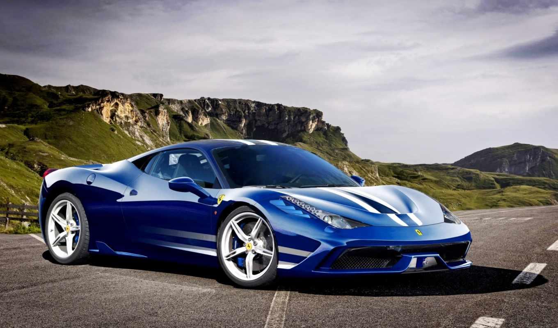 ferrari, speciale, авто, фары, машины, суперкар, фронтовой, car, italia,