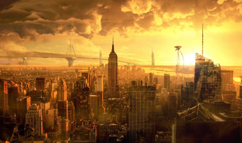 нью, йорк, empire, state, new, building, publicado, миров, война,