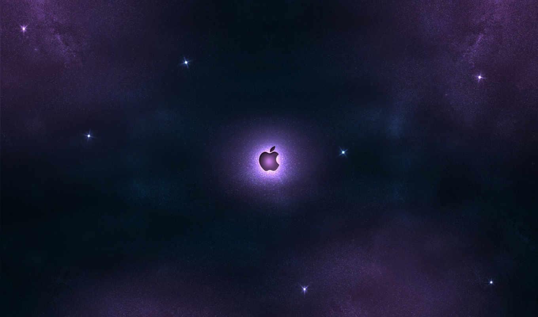 apple, stars, night