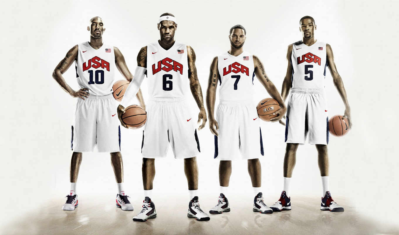баскетбол, usa, nike, kobe, lebron, james, williams, bryant, deron, баскетбольной, durant,