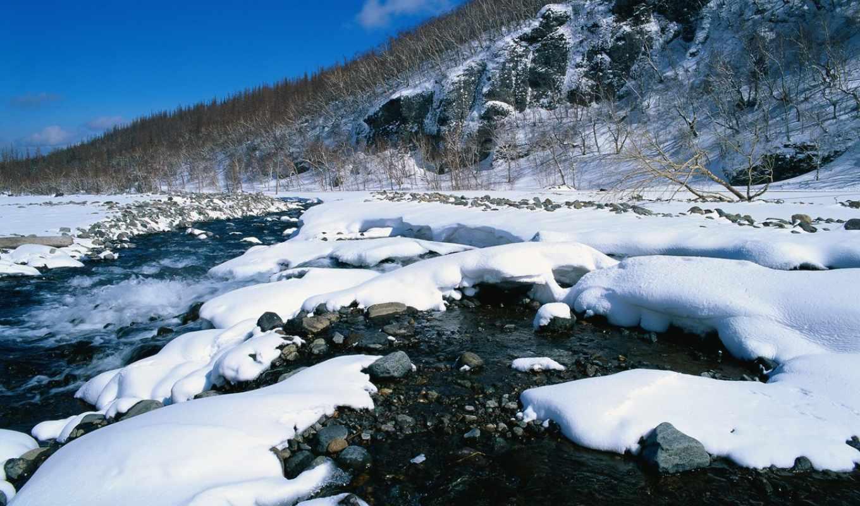 winter, landscape, фотообои, природа, красивые, live,