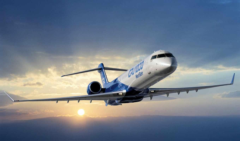 небо, самолёт, авиация, самолеты, card, пассажирский, гражданская, bombardier, crj,