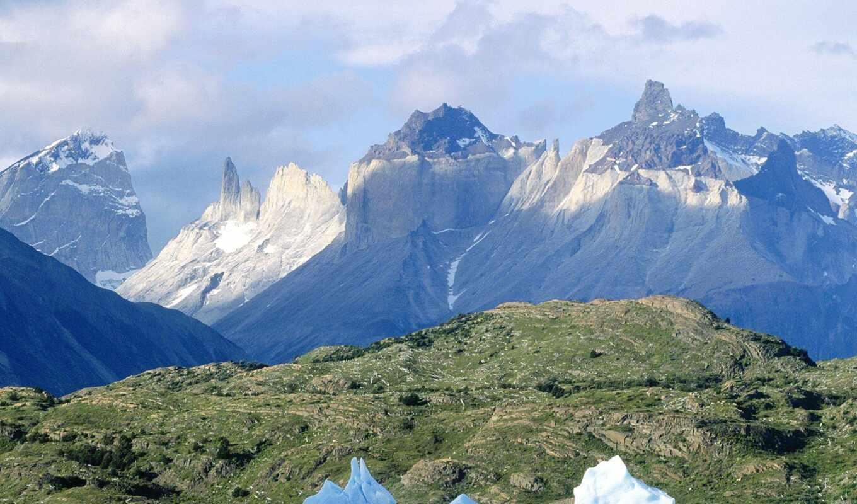 гора, del, national, park, paine, кавказ, system