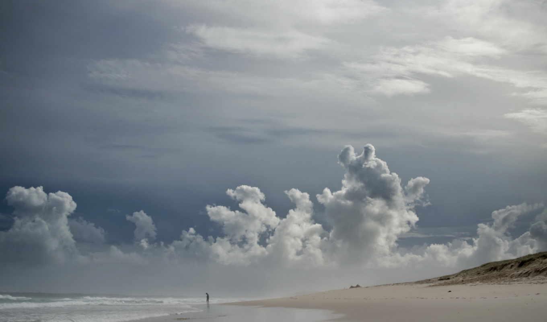 небо, море, берег, пейзаж, картинку, картинка, кнопкой, мыши,