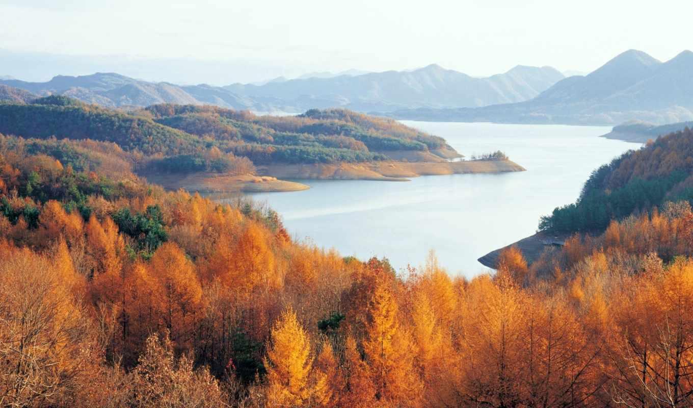 природа, korea, психология, озеро, красивая, часть, природы,