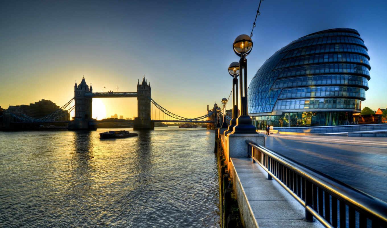 london, мост, башня, города, англия, мостом,