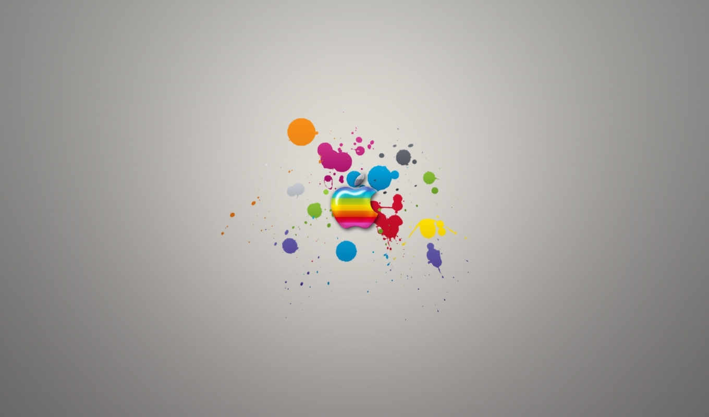 apple, радуга, logo, виджет, компьютерные, ipad,