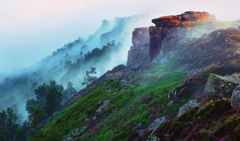 landscapes, nature, , fog,