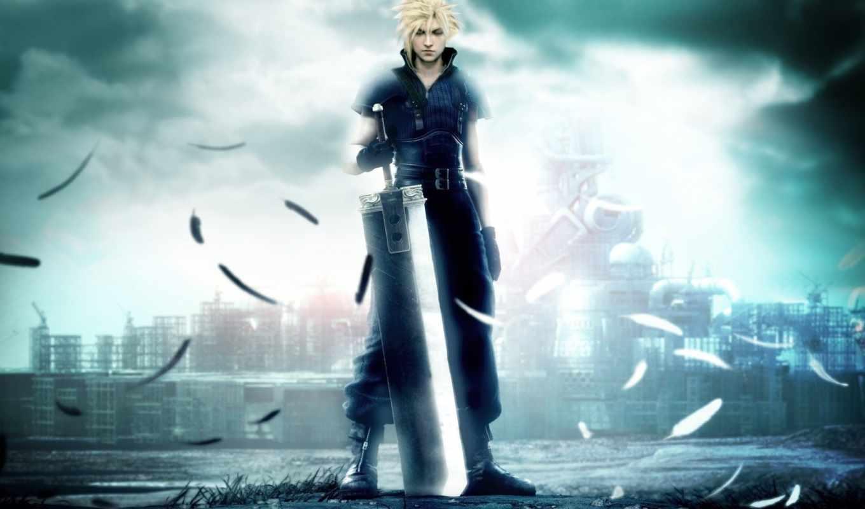 fantasy, final, парень, мечь, vii, смотрите, children,