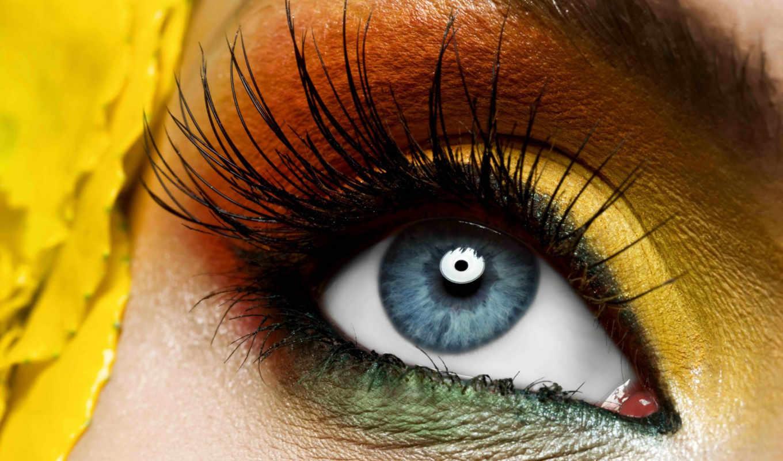 , глаз, зрачек, ресницы,