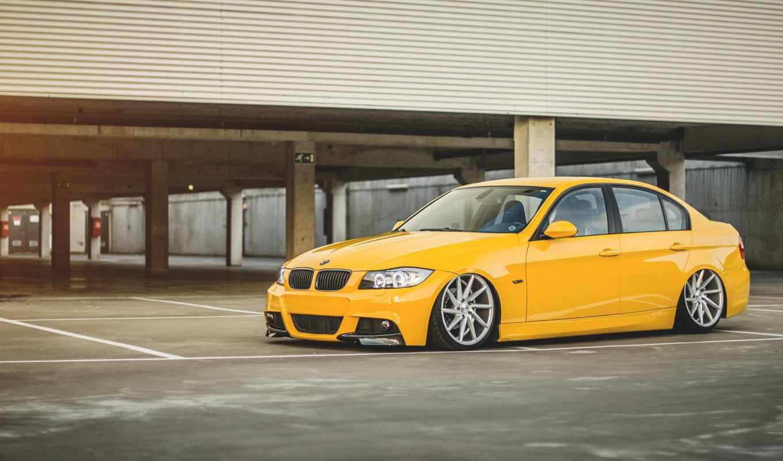 bmw, бмв, серия, yellow, желтая, парковка, vossen, июн,