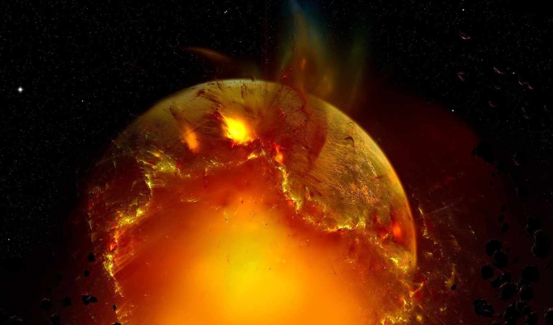 planet, exploding, desktop, лет, со, planets, взрыв,