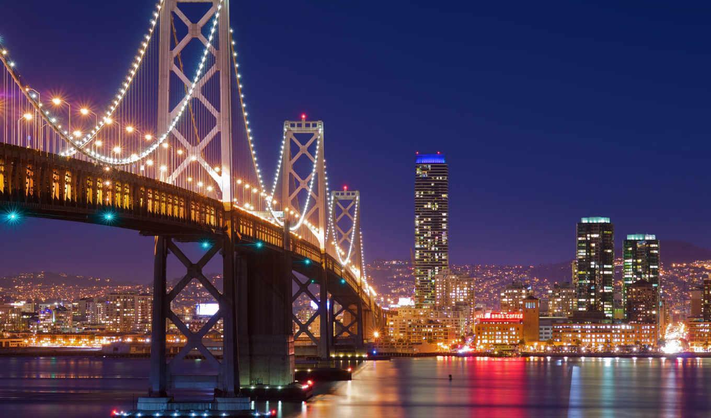 мост, сан, francisco, город, san, золотые, gate, огни,