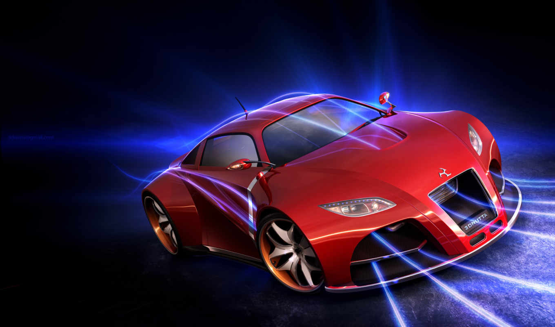 car, красная, машина, red, porsche, concept, black, dnutta, вероятный, roche,