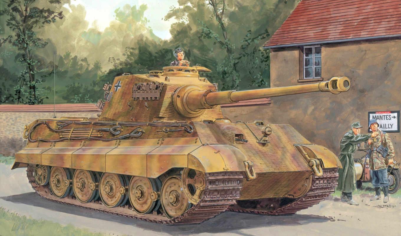 тигр, королевский, танк, немцы, германия, вермахт,