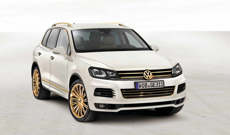 touareg, volkswagen, gold, white,