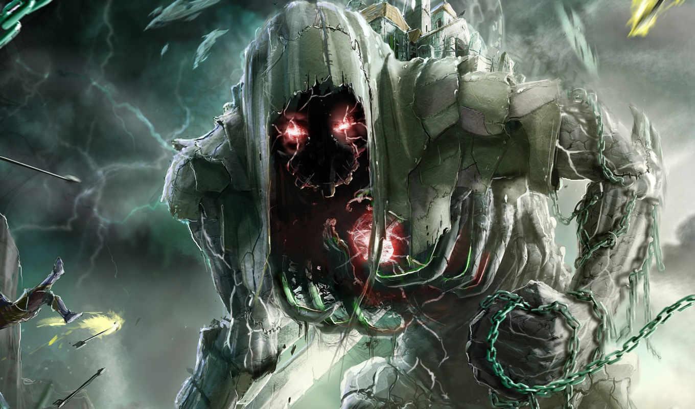 monster, монстры, цепь, ужасы, свет,