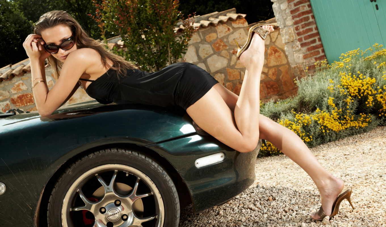 девушка, машина, очки, devushki, car,