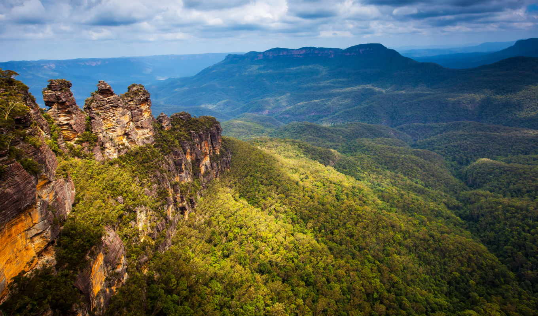 blue, австралия, картинка, гора, mountains, природа, австралии, австралию, весной, влад, rock,