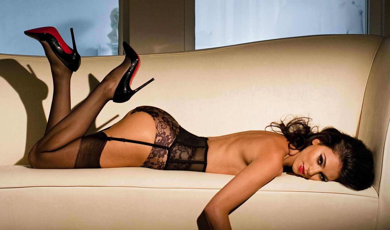 девушки, чулки, красивая, девушка, самые, диван, белье, красивые, salpa, georgia,
