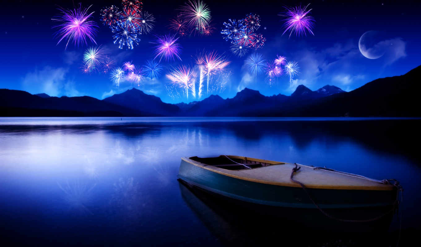 year, new, boat, fireworks, año, celebrating, nuevo, download, feliz, deseamos, les, prazniki, sky, lake, free, water, bonitas, imágen,