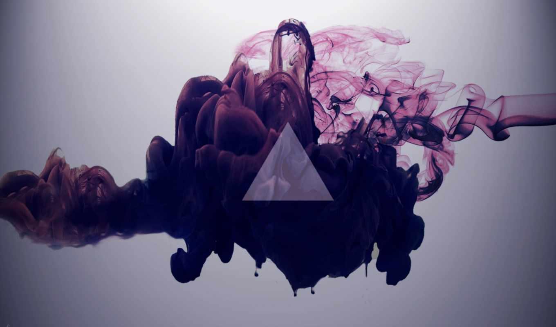 треугольник, hipster, дым,