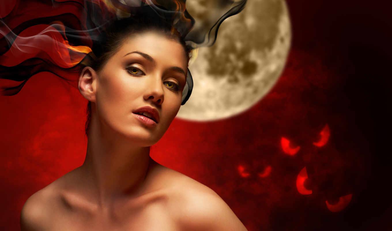 witch, стать, девушка, волосами, горящими, really, клипарт, огонь, ведьмой,