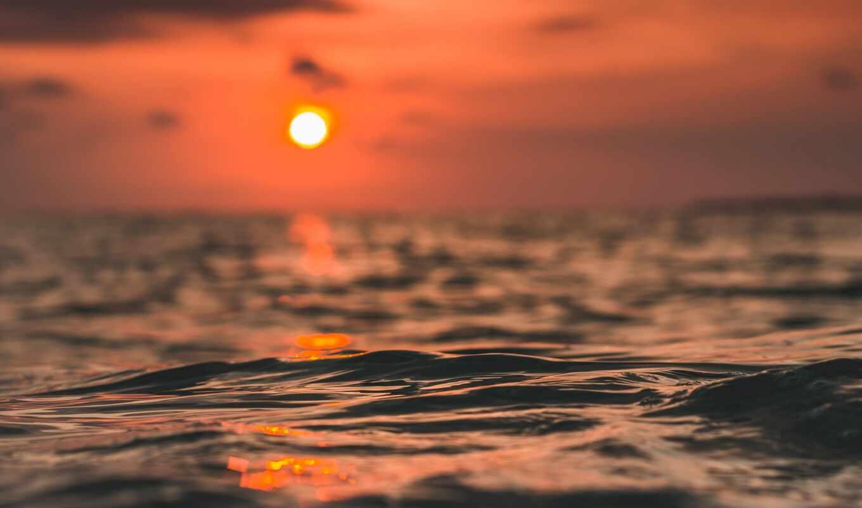 закат, water, во, blue, тело, природа, небо, popularity, море, sun, волна