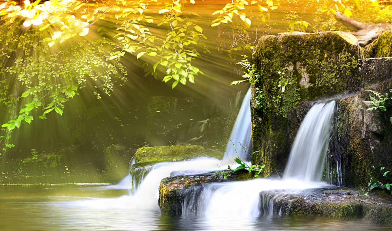 river, waterfalls, fondos, , image, landscape, stream, feng, spring, shui,