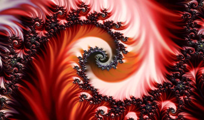 fractal, фрактал, красный, узор,