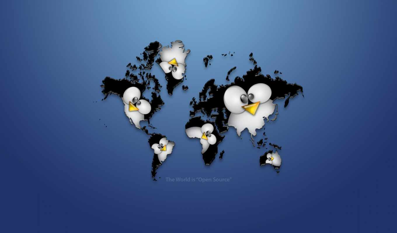 linux, logo, tux, wallpaper, map, worlwide