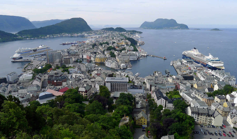 alesund, город, норвегии, name, красивый, сказочно, victoria, neighborhood, получил, водопад,