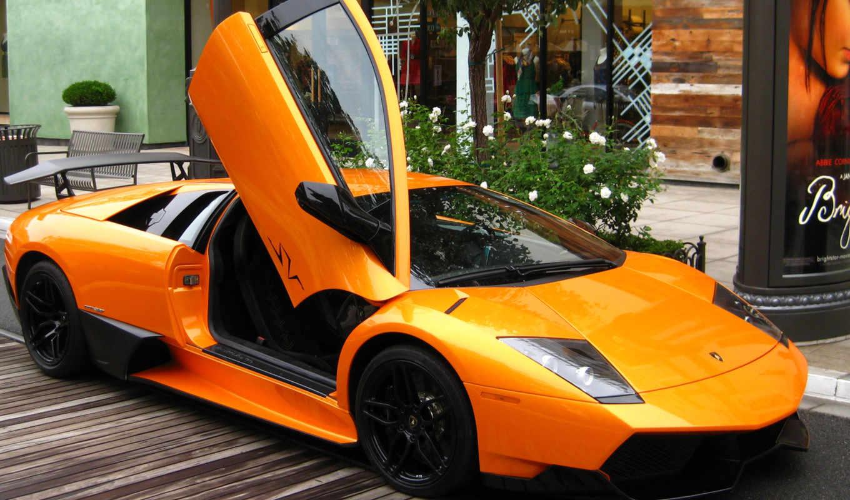 оранжевая, ламборджини, lamborghini, улице, об, ideas, share, pinterest, цена, save,