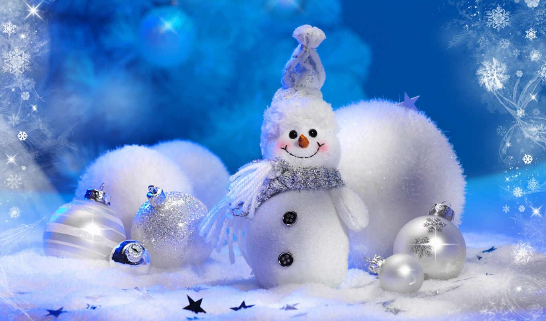 desktop, cute, snowman, christmas, год, widescreen, новый, новогодние,