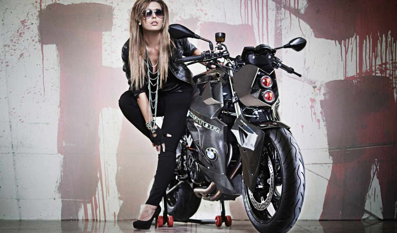 bmw, predator, vilner, bike, custom, мотоцикл, девушка, бмв, tuning, download,
